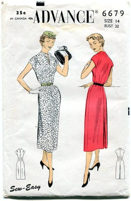 Advance 40 Vintage Sew Easy Dress Pattern 40s Bust 40 Unique Vintage Dress Patterns 1950s