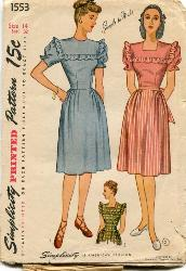 Vintage Simplicity 3761 Dress and Pinafore Pattern Sz 8 | Panacea