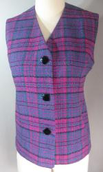 Vintage 60s Mod Cape Mini Skirt Vest Set S M
